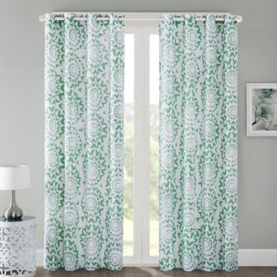 Regency Heights Mariposa 84 Inch Grommet Top Window Curtain Panel In Mint
