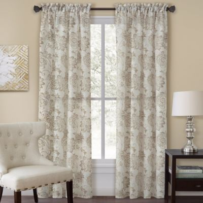Good Homewear Linens Engelton 63 Inch Rod Pocket Window Curtain Panel In Natural