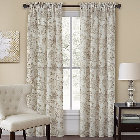 Homewear Linens Engelton Window Curtain Panel And Valance Bed Bath Beyond