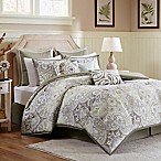 Harbor House™ Cecil Reversible Queen Comforter Set in Taupe