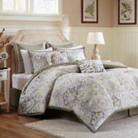 Harbor House™ Cecil Reversible Full Comforter Set in Taupe