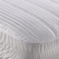 Wamsutta® Dobby Stripe Full Mattress Pad in White