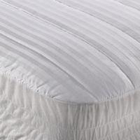 Wamsutta® Dobby Stripe California King Mattress Pad in White
