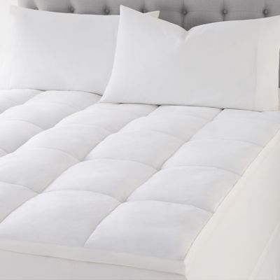 wamsutta quilted top featherbed full mattress topper in white