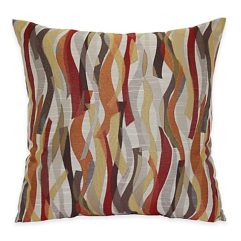 Ziggles Square Throw Pillow in Red - Bed Bath & Beyond