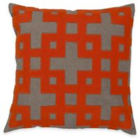 Surya Almere 18-Inch Geometric Throw Pillow in Poppy