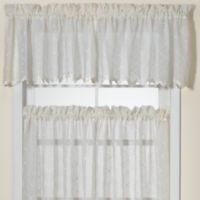 Diamante Kitchen Window Valance in Ivory