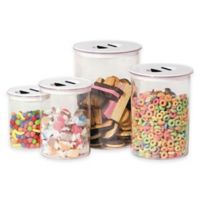 Oggi™ 4-Piece Round Stack-N-Store Canister Set in White