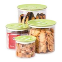 Oggi™ 4-Piece Round Stack-N-Store Canister Set in Green