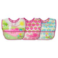 green sprouts® by i play.® 3-Pack Tea Party Wipe-Off Bibs