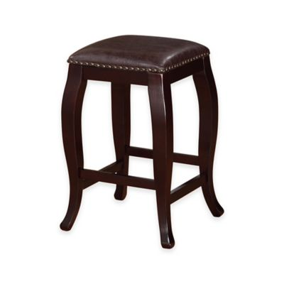 Buy Padded Espresso 24 Inch Folding Stool From Bed Bath