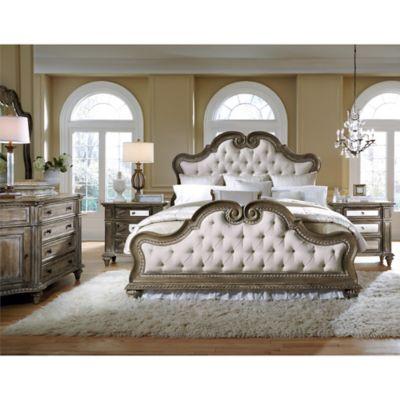 Pulaski Arabella 4 Piece Queen Bedroom Set In Grey/Brown
