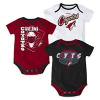 "NHL Arizona Coyotes ""3 Point Spread"" Size 0-3M Bodysuit Set (Set of 3)"