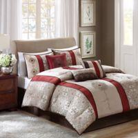 Madison Park Donovan 7-Piece King Comforter Set in Red