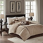 Madison Park Dune 7-Piece King Comforter Set in Beige