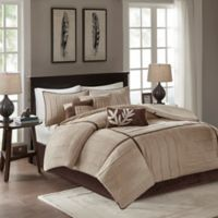 Madison Park Dune 7-Piece Queen Comforter Set in Beige