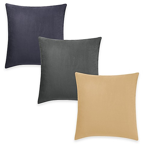 Throw Pillow Covers Bed Bath Beyond : Sure Fit Stretch Suede Square Throw Pillow Cover - Bed Bath & Beyond