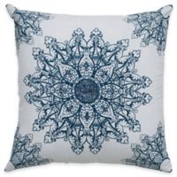 Rizzy Home Applique and Sequin Square Throw Pillow in White