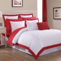 Fiesta® Classic Full/Queen Duvet Cover Set in Scarlet