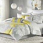 Madison Park Lola 7-Piece Reversible Queen Comforter Set in Grey/Yellow