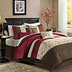 Madison Park Serene 7-Piece Queen Comforter Set in Brick