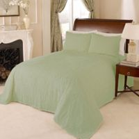 Channel Chenille Queen Bedspread in Green