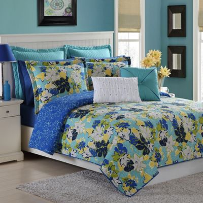 Buy Roxy Samantha Floral Reversible Twin Twin Extra Long Bed Set From Bed Bath Beyond