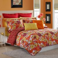 Fiesta® Sedona Reversible Twin Quilt Set in Poppy