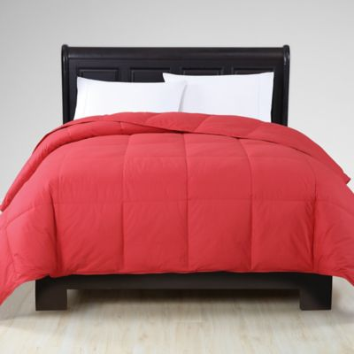 vcny down alternative king comforter in red