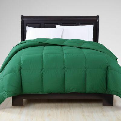 vcny down alternative fullqueen comforter in green