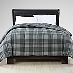 VCNY Down Alternative King Comforter in Grey/Plaid