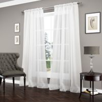 Vue™ Carrington 95-Inch Sheer Window Curtain Panel in White