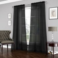 Vue™ Carrington 95-Inch Sheer Window Curtain Panel in Black