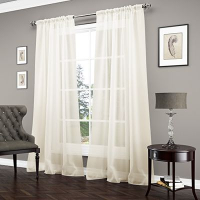 Vue Carrington 84 Inch Sheer Window Curtain Panel In Ivory