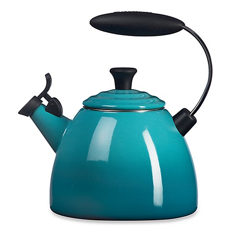 Le Creuset® Halo 1.5-Quart Tea Kettle in Caribbean Blue
