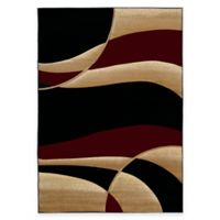 United Weavers Contours Avalon 1-Foot 10-Inch x 2-Foot 8-Inch Accent Rug in Burgundy