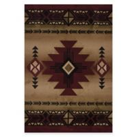 United Weavers Flagstaff 5-Foot 3-Inch x 7-Foot 6-Inch Area Rug in Burgundy