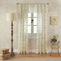 Finch 108-Inch Rod Pocket Sheer Window Curtain Panel in Yellow/Green