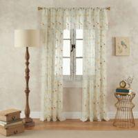 Finch 84-Inch Rod Pocket Sheer Window Curtain Panel in Yellow/Green