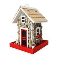 Home Bazaar Fieldstone Guest Cottage Birdfeeder