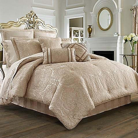 J Queen New York Renaissance Comforter Set In Sand Bed