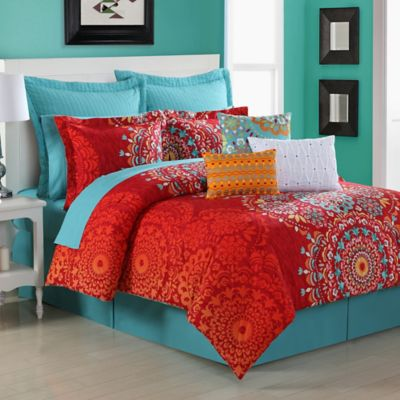 Fiesta  Cozumel Reversible Queen Comforter Set. Buy Turquoise Comforters Sets from Bed Bath   Beyond