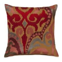 Surya Krasavino 20-Inch 20-Inch Ikat Throw Pillow in Poppy