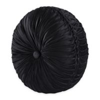 J. Queen New York™ Bradshaw Black Tufted Round Throw Pillow in Black