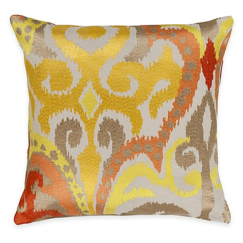 20 Inch Square Decorative Pillows : Buy Surya Krasavino 20-Inch Square Throw Pillow in Sunflower from Bed Bath & Beyond