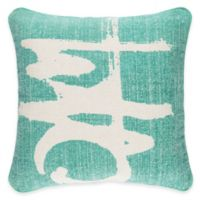 Surya Castig 20-Inch Abstract Throw Pillow in Teal