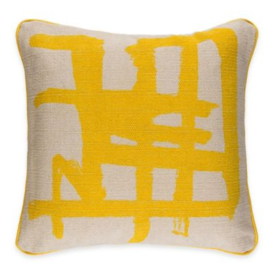 Large Yellow Decorative Throw Pillow Couch Cushion Cover Indian