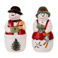 Spode® Christmas Tree Mr. and Mrs. Snowman Salt and Pepper Shakers