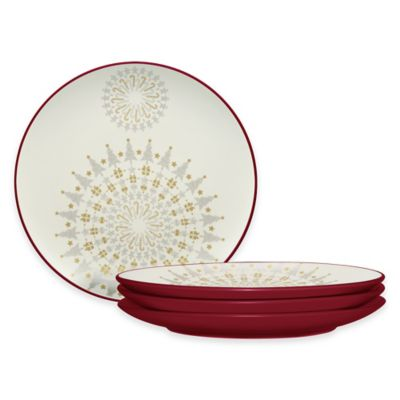 Noritake® Colorwave Holiday Accent Plates in Raspberry (Set of 4)  sc 1 st  Bed Bath u0026 Beyond & Buy Christmas Holiday Plates from Bed Bath u0026 Beyond