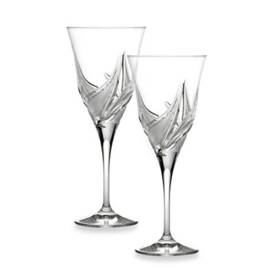Lorren Home Trends Cetona Red Wine Goblets from the DaVinci Line (Set of 2)
